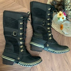 Sorel Conquest Carly tall boots black 9